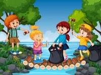 rengöring av floden