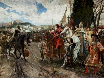 La rendición de Granada - Tableau représentant la fin de la reconquête.