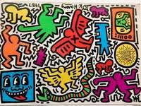 Magazinul pop Keith Haring din Tokyo - Reproducerea operei artistului de artă stradală Keith Haring