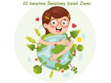 Earth Day - The picture shows Earth and the girl. It is a presentation of environmental protection by people.