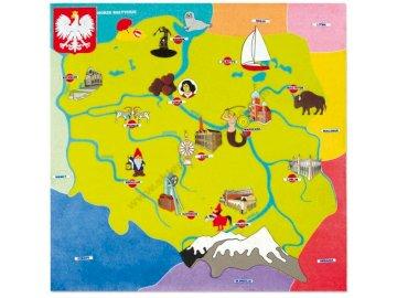 Mapa da Polônia - Mapa da Polônia para crianças Quebra-cabeças criados a partir da imagem do mapa polonês para cri