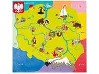 Karte von Polen - Weichsel. Karte von Polen. Karte von Polen für Kinder. Karte von Polen für Kinder Rätsel aus dem