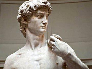 David de Miguel Ángel - Rostro del David de Miguel Ángel, en el acto de pensar y concentrarse