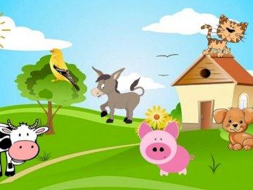 Farm animals - Farm animals - puzzles with farm animals.