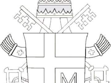 jp ii escudo de armas - Rompecabezas con el escudo de armas de Juan Pablo II para colorear