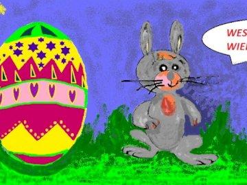 conejito - Un conejito dulce para organizar. Aquí está el conejito de Pascua que trae alegría a todas las pe