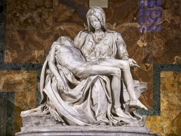 Vatican Pietà - Michelangelo - Vatican Pieta - Michelangelo. Jesus Christ removed from the cross and laid on the lap of the Mother.