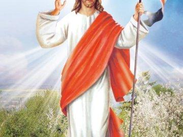 Jesús resucitó - Jesús resucitó Una persona con un vestido rojo.