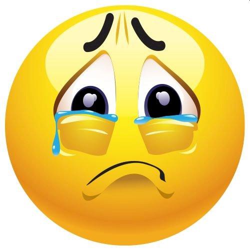 Emocje smutek - Emotikon - smutek i łzy Rysunek postaci z kreskówek (4×4)