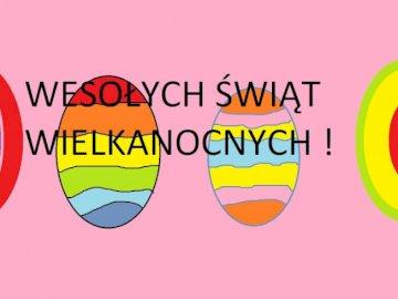 Puzzle de Pâques - Photo de Pâques avec des oeufs Un gros plan d'un logo.