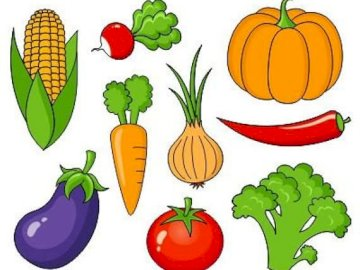 Fruits and vegetables - Make a picture with vegetables and fruit
