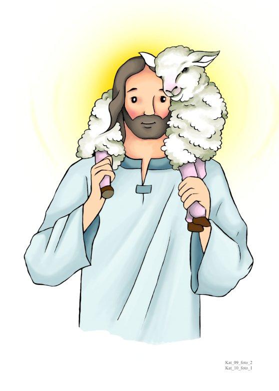 Jésus le bon berger - Jésus le bon berger garde les brebis perdues Un gros plan d'un logo.