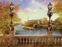 Pařížské budovy. - Puzzle: Pařížské budovy.