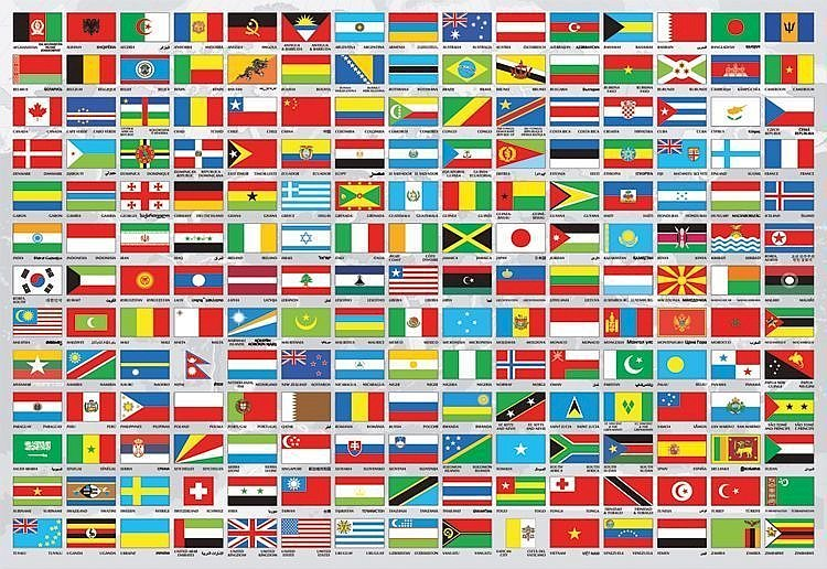 Световни знамена - Знамена на света, пъзел. Екранна снимка на видео игра (10×8)