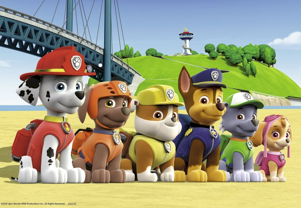 Paw Patrol 1 - puzzles pat patrol test. A group of toy figurines.