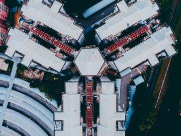 Z bliska, gdzie mieszkam. Ja jestem - Zdjęcie lotnicze budynków. Kuala Lumpur. Wysokie budynki w mieście.