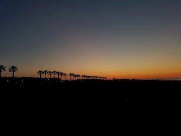zachód słońca - pa pa pa pa. Zachód słońca nad akwenem.