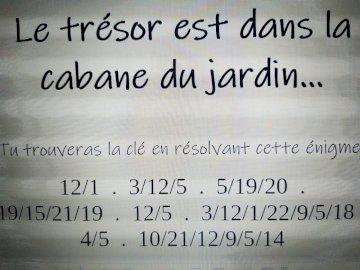 Jalane-Gaspard - Résous le puzzle pour trouver la suite du parcours...Bonne chance !. Un gros plan de texte sur fond