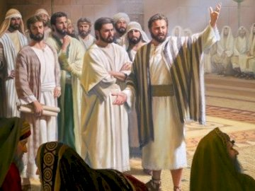 Jesus' apostles - The apostles boldly proclaim the Gospel after the Resurrection of the Lord Jesus. A group of people