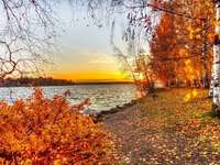 landschap, zonsondergang