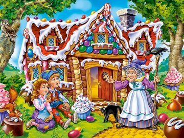 JAŚ AND MAŁGOSIA - Try to put together puzzles about John and Gretel :).