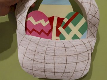 Easter basket - Own work, technical and art classes.