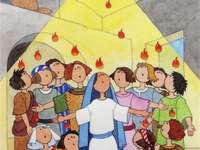 O PENTECOST - O PENTECOST. DESCIDA DO ESPÍRITO SANTO NOS APÓSTOLOS E EM MARIA. A DESCIDA DO ESPÍRITO SANTO NOS