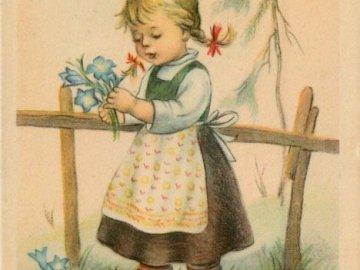 vyrostly nám modré květiny - vyrostly nám modré květiny. Une petite fille tenant un bébé.