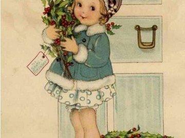 dívenka si nese kytičky - dívenka si nese kytičky. Une petite fille tenant une fleur.