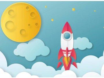 Wyprawa w kosmos - Wyprawa w kosmos dla dzieci. Zbliżenie logo.