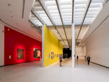 Maxxi, Rome - White and yellow painted walls.