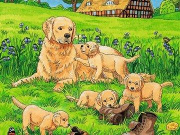 Los perros .. - Rompecabezas: perros lindos.