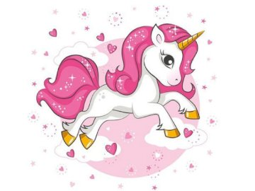 UNICORNIO - Rompecabezas con un unicornio para niñas. 20 artículos. Un primer plano de un logotipo.