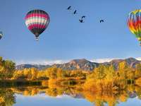 Colorful Balloons, Rocky Mountains