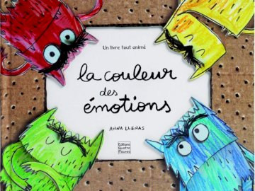 """The color of emotions - Puzzle of the cover of the book """"The color of emotions""""."""