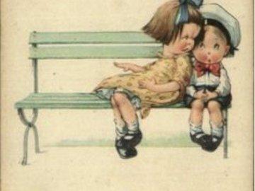 dva nezbedníci na lavičce - dva nezbedníci na lavičce.
