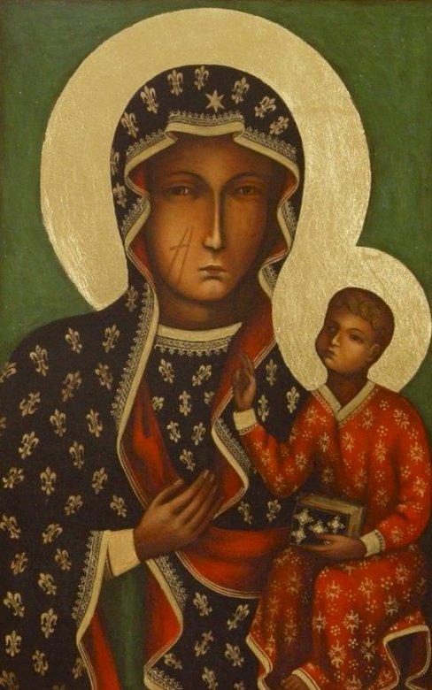 Onze Lieve Vrouw van Częstochowa - Onze Lieve Vrouw van Częstochowa. Een persoon die een kostuum draagt (5×3)