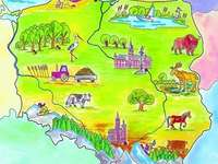 Map of Poland for preschoolers