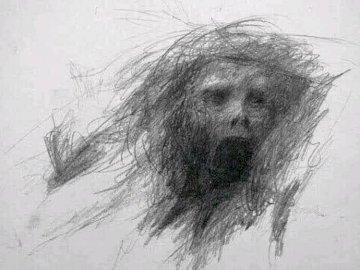 Creepy Drawing - creepy drawing, apparently made by an inmate at a mental asylum.