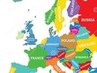 Polen på kartan över Europa