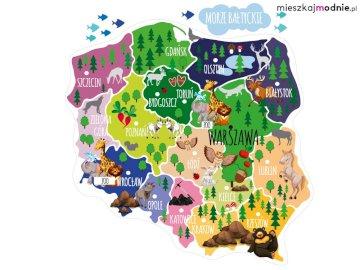 Mapa Polski - Ułóż z puzzli mapę naszego kraju. Zbliżenie logo.