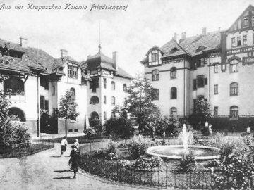 Friedrichshof - travailleur du village, l'allemagne, essen, Krupp. Une photo vintage d'un immeuble a