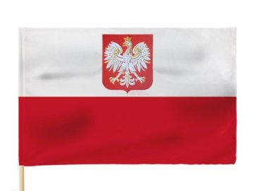 Polish flag - game designed for 3-4 years old children, showing the flag of Poland. A close up of a flag.