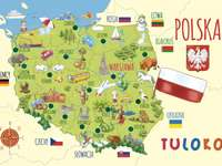 Mappa polacca illustrata puzzle