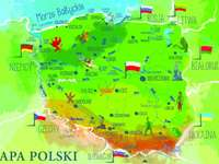 map of Poland - Map of Poland. Map of Poland for 3-4 years old children. A close up of a map. Map of Poland for 3-ye