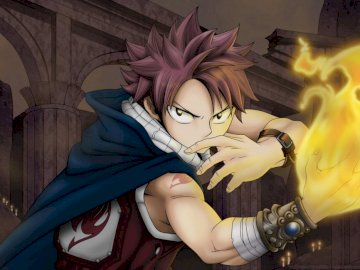 Fairy tail - Fairy Tail Natsu Dragneel. A statue of a person.