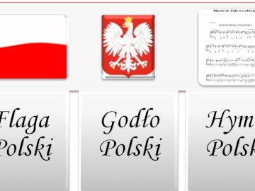 Polish National Symbols - Make a crossword puzzle and check what national symbols of our country. A close up of text on a whit