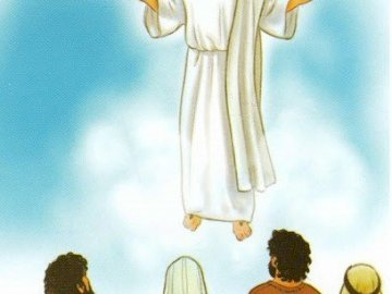 Ascension of the Lord Jesus - Catechetical Aids. A person in a wedding dress.