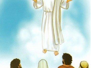 Wniebowstąpienie Pana Jezusa - Pomoce katechetyczne. Osoba w sukni ślubnej.