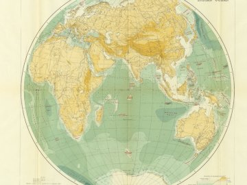 Sir John Murray's map of the - View of world map. United States. A close up of a map.